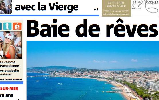 La baie de Cannes pour Nice Matin